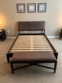 Crate and Barrel Queen Size Bed w/ Bedroom Bench Fairfax, 22030