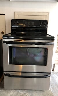 Kenmore Stainless Glass-top Electric Stove/Oven
