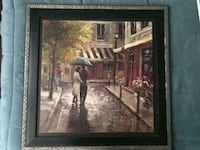 brown wooden framed painting of house Sterling