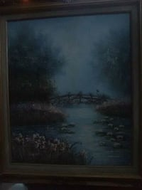brown wooden framed painting of trees Stockton, 95207