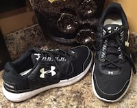 Under Armour black & white running shoes ( new )