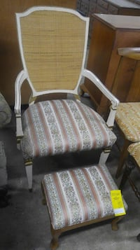 Vintage Chair with Footstool North Wales