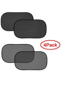 FIRSFOR Car Sun Shade(4 Pack)-2 Transparent and 2 Semi-Transparent 20''x12'' Sunshades for UV Rays Protection 圣地亚哥, 92126