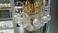brass-colored and clear glass chandelier Mississauga, L5M 7Z9