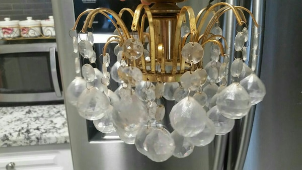 clear crystal LED chandelie