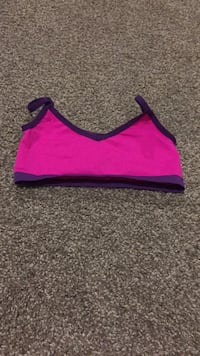 Double sided purple and pink spots bra