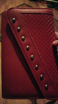 red and black leather wallet Swannanoa, 28778
