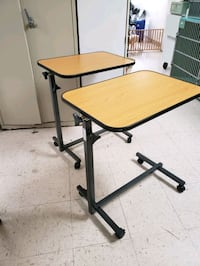 Two adjustable bed tables Norco
