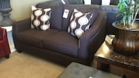 Brown Fabric Loveseat W/ Unique Nailhead Design Phoenix, 85018