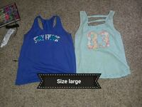 two blue and gray tank tops Dry Prong, 71423