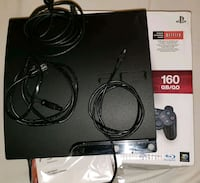 black Sony PS3 slim console with controller and bo Lewisville, 75067