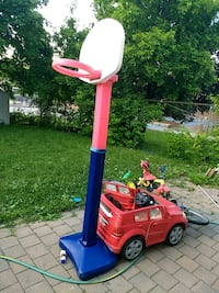 red and blue Little Tikes basketball hoop Toronto, M1B 1P6
