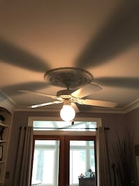 white 5-bladed ceiling fan Alexandria, 22315