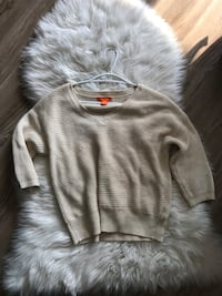 Joe fresh beige sweater xs Waterloo, N2T 1Z9