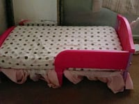 red and white polka dotted bed Stockton, 95205