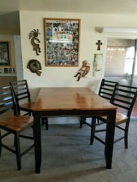 Table with pull out 4 chairs