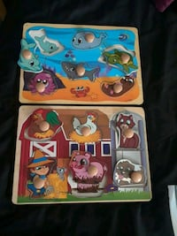 Wooden 6 Pc Puzzle With Knobs 450 mi
