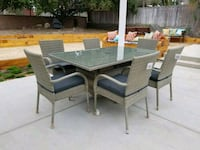 New 6 seater wicker patio dining table& chairs set Chula Vista, 91913