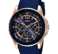 GUESS  Men's W0485G1 Comfortable Rose Gold-Tone &  Torrance