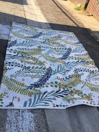 white, blue, and green floral textile Compton, 90221
