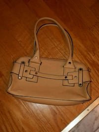 brown leather 2-way handbag Brampton