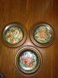 assorted three painted ceramic plates Mount Holly Springs, 17065
