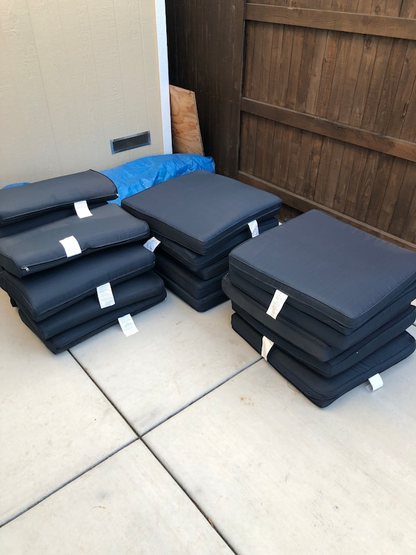New patio furniture cushions. 7ed11c79-f437-424a-9080-68a720846ca1