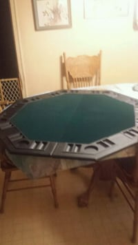Folding poker table top. New in case... never used.