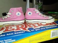 pair of pink-white-black Converse high top Kansas City, 64123