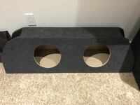 Dual 10 enclosure sub bass woofer new  Toronto, M6P 1K1