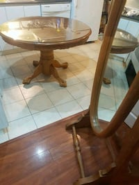 Solid wood mirror & kitchen table