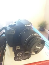 Canon eos dslr camera and the whole kit