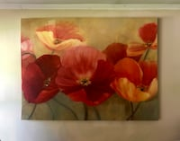 Beautiful fall colors painting of vibrant Poppies Miller Place, 11764