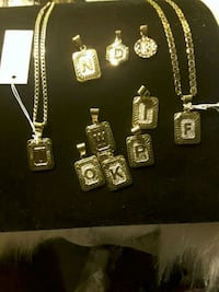 NEW  Initial Pendents (ALL I have in gold) 10$   Chains 10$ SALE 11/11 Ladson, 29456