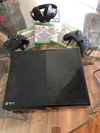black Xbox One console with controller and game case Hermosa Beach, 90254