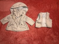 Baby Mayoral Tan Rain Jacket w/ Detachable Vest and Hood 0-3 Months High End Brand  Lancaster, 17603
