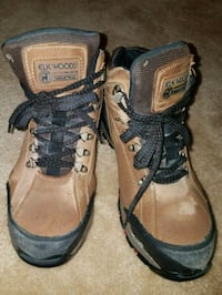 pair of brown-and-black hiking boots 22 mi