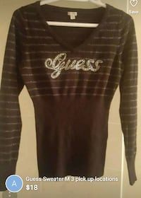Guess medium top sweater 3 pick up locations  New Westminster