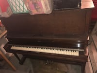 Antique piano and stool made in Toronto