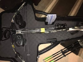 Black and gray compound cross bow