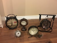 Clock collect; sold separately also negotiable prices individually Toronto, M6N 1H5