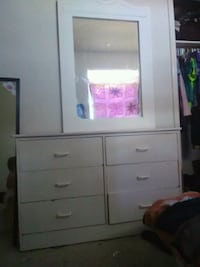white wooden dresser with mirror El Paso, 79936