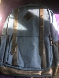 black and gray leather backpack Silver Spring, 20904