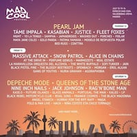 Mad cool tickets Sábado / saturday MADRID