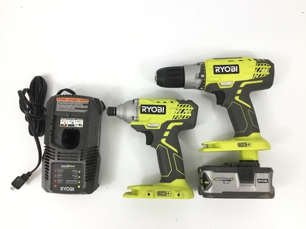 Used Ryobi P1832 18 V One Lithium Ion Cordless Drill Driver And Impact For In Northbrook Letgo
