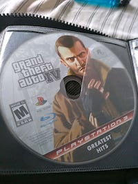 PS3 Grand Theft Auto 4 game disc Highland Charter Township, 48357