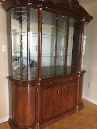 Classic wooden and glass hutch - great condition !