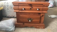 Brown wooden 2-drawer chest, Pine, 2 available Woodbridge, 22192