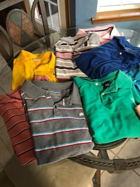 Men's designer polo shirts size large some x large   Selling for $5.00 each will discount on multiple shirts. Pick up on westside only. Thank you El Paso, 79912