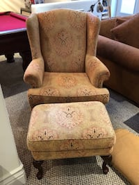 Queen Anne Chair and Ottoman